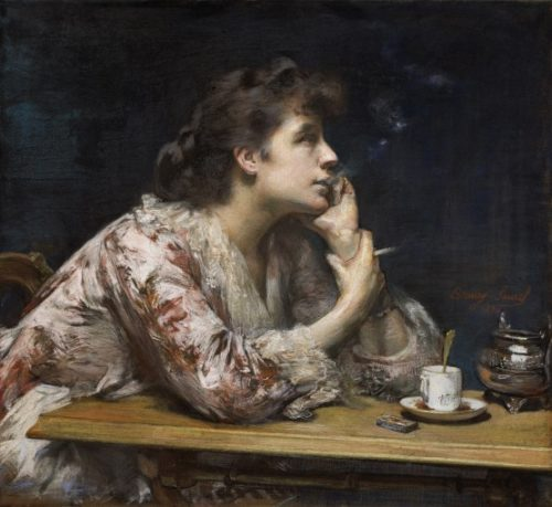 """Amélie Beaury-Saurel, """"Dans le bleu"""", 1894, pastel,  75 cm x 82 cm, Toulouse, musée des Augustins"""